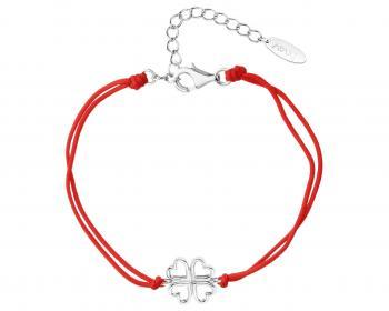 sznurkowa bransoletka z koniczynką