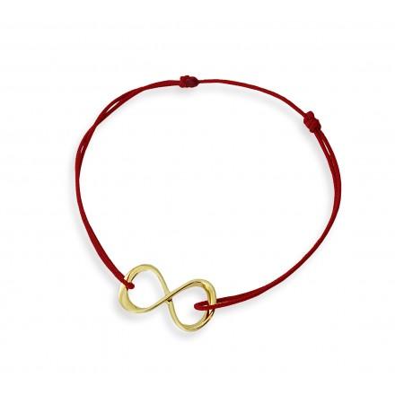 sznurkowa bransoletka z symbolem nieskończoności