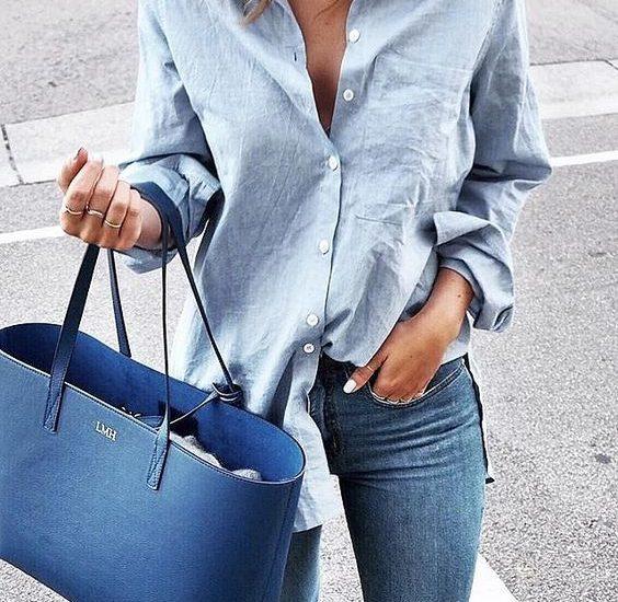 błękitna koszula stylizajce