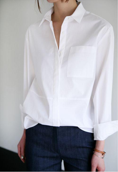Bia a koszula na co dzie i od wi ta o zdrowiu urodzie for Crisp white dress shirt