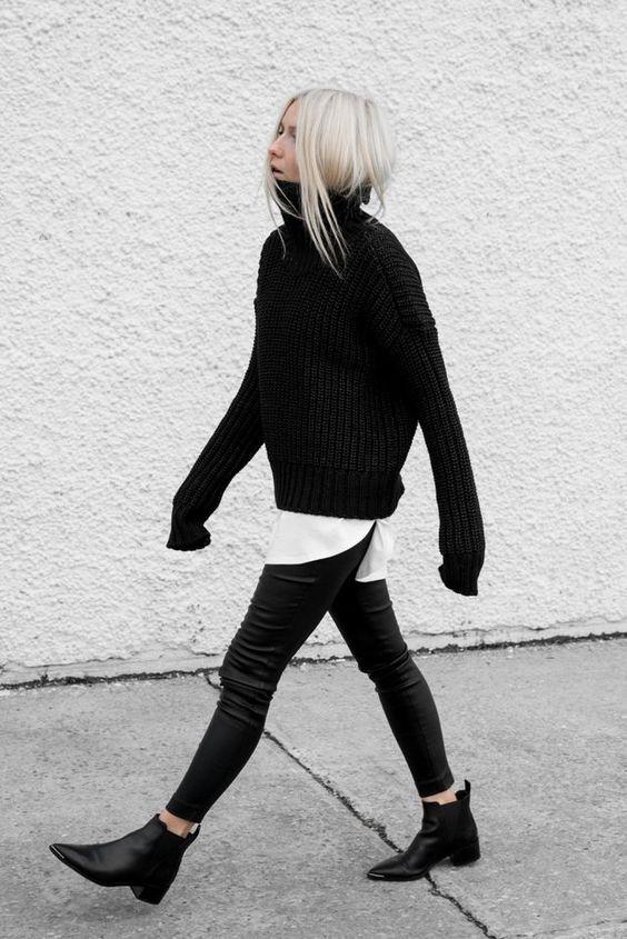 swetry oversize stylizacje