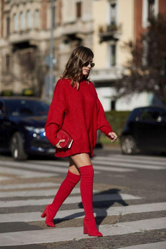 sweter oversize sukienka