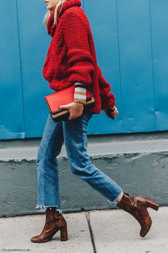 sweter oversize street style