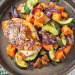 Kurczak z warzywami poleca się na obiad