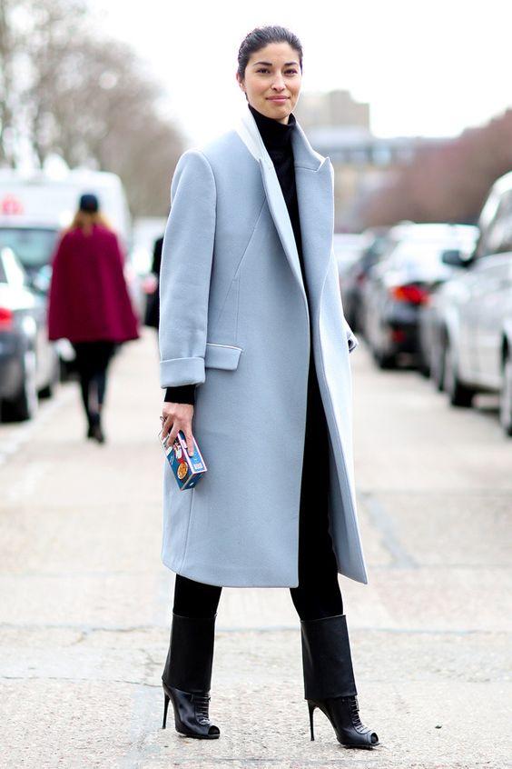 modny błękit