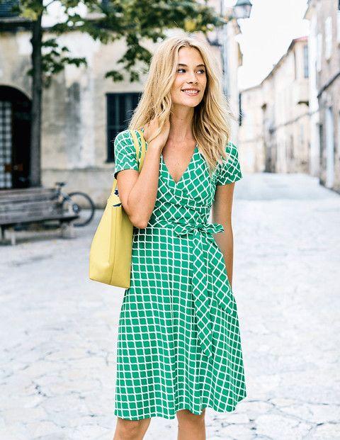 modna zielona sukienka