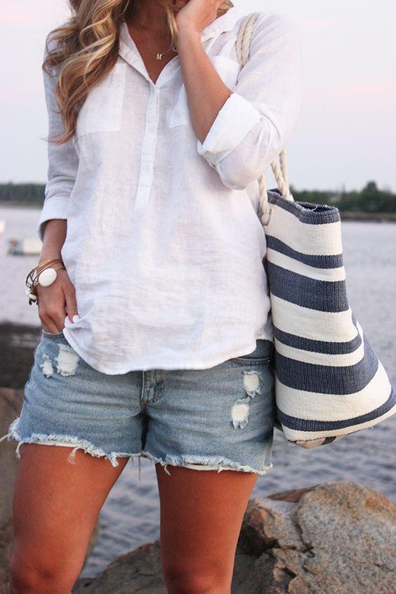 biała koszula na lato